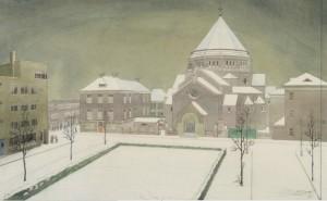 Majellakerk - tekening Max Nauta 1934