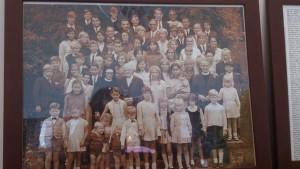 Heinnie Jongerius met kinderen en kleinkindren in 1969