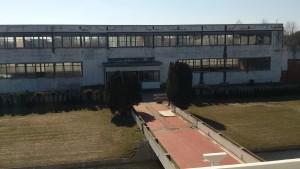 Huidige staat van het oude kantoorgebouw van Jongerius. De toekomst is nog onzeker.