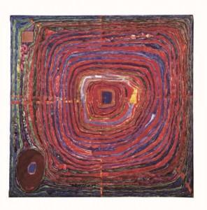 Spiraalschilderij, een vroeg werk van Friedensreich Hundertwasser
