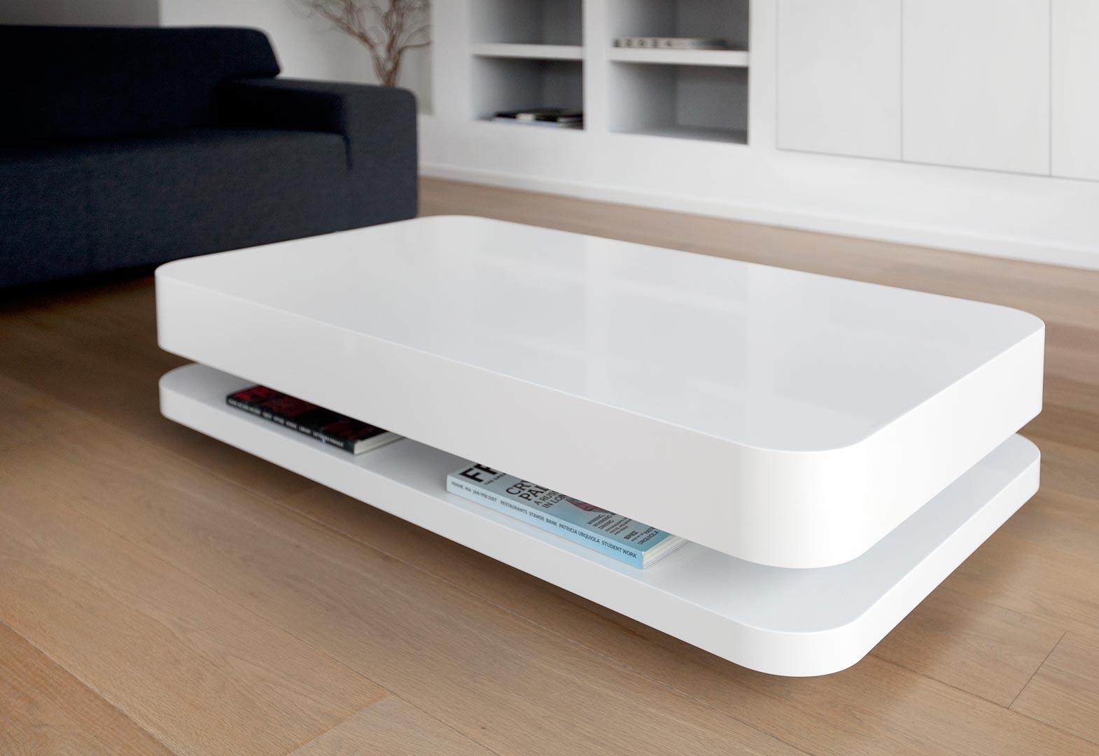 Salon Tafel Wit : Zwevende salontafel architectuur