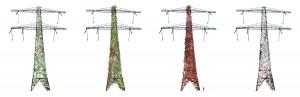 LOLA landscape architects, De vier seizoenen van de met Wilde Wingerd beplante hoogspanningsmasten van Wilgenwende