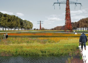 LOLA landscape architects, Impressie van het Hoogspanningspark van Wilgenwende