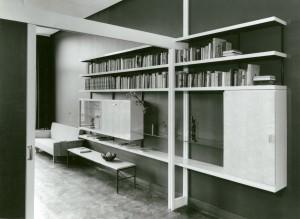 Interieur woonhuis/apotheek Witteveen Arnhem, Dirk van Sliedregt 1956