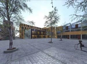 Nieuwbouw woningen Mondriaan in Centrum Oost, op het terrein van de P.G.E.M. Arnhem