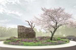 LOLA landscape architects, Natura Docet Wonderrijk, Impressie rotonde met droomhuis
