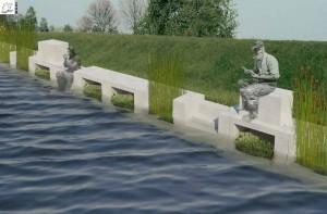 De Eco-bank biedt een mooie zitplek aan het water. Foto: indekiemgescoord.nl