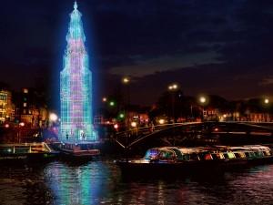 Tijdelijke Toren van Todd van Hulzen - Amsterdam Light Festival 2013