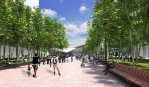 Het Kruisplein wordt een autoluw voetgangersgebied. Beeld West 8.