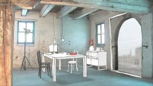 Interieur werkruimte Sodafabriek in de toekomst.