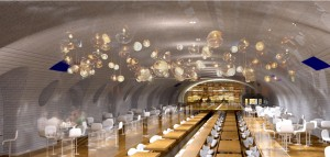 Spookstations Parijs restaurant - Oxo architectes + Laisné Architecte