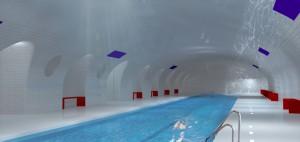 Spookstations Parijs zwembad - Oxo architectes + Laisné Architecte