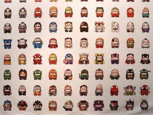 Pixelwand met game characters door Pixelkaiju  - Foto Jacqueline Knudsen