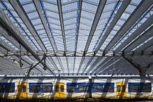De enorme glazen overkapping van het station. Team CS/ (c)   Jannes Linders