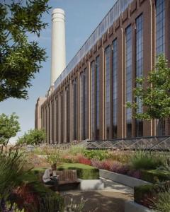 Tuinen bij de nieuwe appartmenten, ontwerp Michaelis Boyd