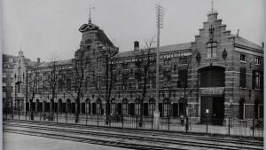Foto oude situatie 1891, na aanleg van een industrieel spoorbaantje langs de Nieuwe Vaart