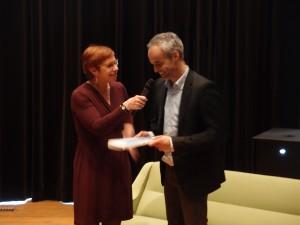 TracyMetz en Kees van Casteren, projectarchitect van De Rotterdam van OMA