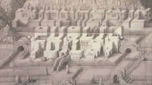 Paul Noble, gebouwen in de vorm van letters, Nobson Font