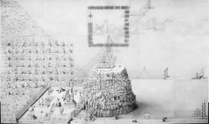 Paul Noble - Ye old ruin - 4,5 x 7,5 meter