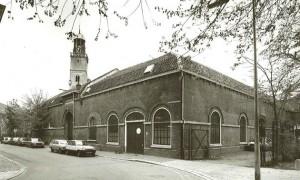 oude dienstruimte nu tuinzaal aan de Nicolaasdwarsstraat