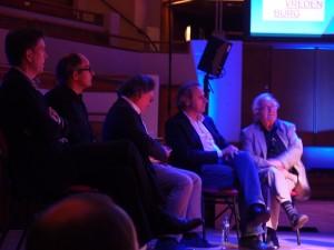 V.l.n.r. Patrick Fransen, Pieter Bannenberg, Jo Coenen, Thijs Asselbergs en Herman Hertzberger. Foto Jacqueline Knudsen.