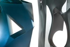 Twee recente glassculpturen van Han de Kluijver.