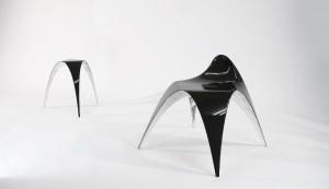 Ontwerper Bram Geenen baseerde de vorm van de Gaudí Chair op de kettinglijnmethode.