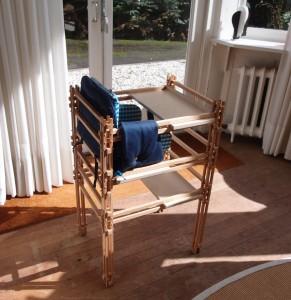 Jongste telg uit de meubelserie: de kinderstoel.  Foto: Jacqueline Knudsen