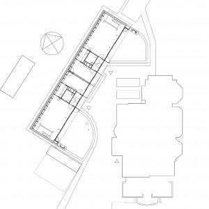 Situatie met links de nieuwbouw en rechts villa Liliane.