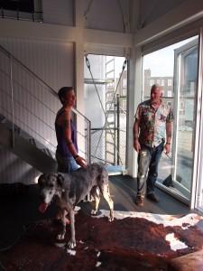 De bewoners van Licht Budget op de dag van de Daylight Award 2012.