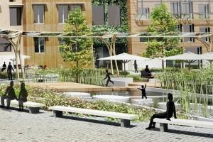 Except ontwikkelde voor Schiebroek-Zuid woningen met dakkassen, openbaar groen met landbouwgrond en een markt.