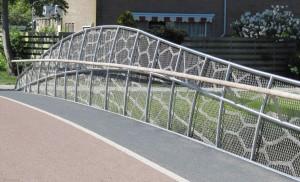 Fietsbrug in Uithoorn met Lace Fence