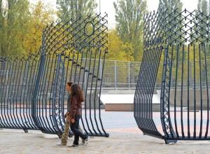 Hekken voor het Olympiaplein, ontwerp Ruud Jan Kokke. Foto's Gabrielle Merolli