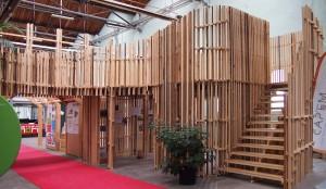 Het Biobased Materials Paviljoen voor het ICDuBo in Rotterdam is ontworpen door ORGA architect en gebouwd volgens een bijzonder bouwprincipe van kunstenaar Frans de Medts. Foto: ICDuBo