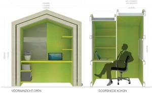 De mobiele werkplek was het beste ontwerp in de eerste ronde van de Jonge Architecten Prijs 2012.