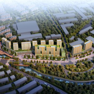 Voor het project Xishan Villa in de stad Dalian ontwierp Contexturearchitects twee typen woontorens en een sales centre. Het grote complex in het midden bevat 169 SOHO-appartementen (afkorting van Small Office Home Office): kleine woon/werkeenheden voor starters vanaf 35 m2. De kleinere torens eromheen huizen 259 gewone appartementen.