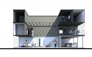 5. Voorlopig ontwerp kantoor Zeebrugge.
