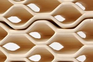 Geprinte bakstenen, ontwikkeld door Brian Peters.