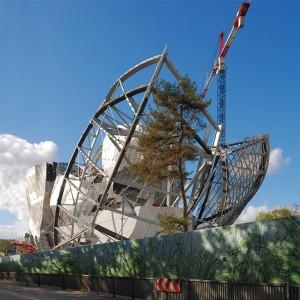 Bij de bouw van het Louis Vuitton Arts Centre van Frank Gehry zijn robots niet meer weg te denken.