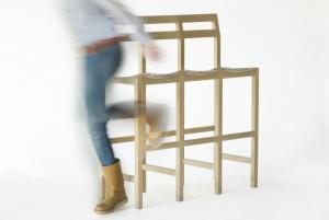 Yksit Triple barstool uit de meubellijn van Yksi Ontwerp.