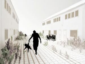 9. Living Pavement, ontwerp Bennie Meek: een straat- en stoeptegel die ruimte biedt aan planten en struiken.