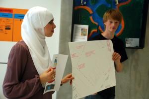 Presentatie romantische haven op IJburg, project van Pacemakers met jongeren uit IJburg.