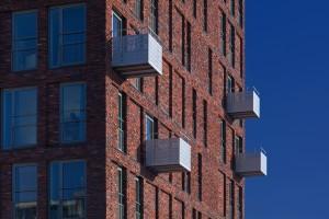 5. Studioninedots/HVDN Architecten wist in de nieuwe studentenhuisvesting in Uilenstede Oost in Amstelveen door een simpel casco geld over te houden voor o.a. mooie balkons. Foto: John Lewis Marshall