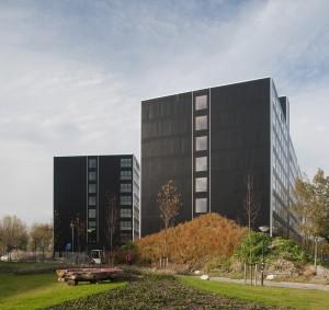 21. Voor Campus Boerhaave in Leiden ontwierp Claus en Kaan architecten twee gebouwen met in totaal 504 studentenunits, die midden 2012 in gebruik zijn genomen. Foto: Sebastian van Damme