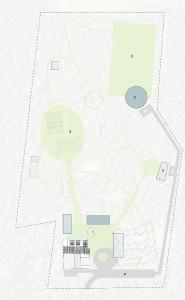 De structuurvisie voor recreatiepark Zonnewende richt op ruimtelijke herstructurering van de bestaande groepsaccommodatie. In de loop van de komende jaren blijft het vizier open op zoek naar nieuwe (aanvullende) inzichten, tegelijkertijd worden onderdelen van de visie steeds meer concreet. reSET is gestart met het voorlopig ontwerp voor een multifunctioneel bospaviljoen (2). Later komende de slaapaccommodaties en eetzalen (1) aan bod.