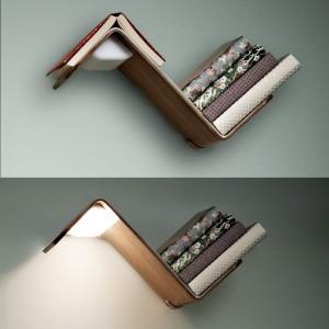 De sensor van de LiliLite bedlamp registreert het boek op de piek en schakelt het leeslampje aan of uit. In productie bij Hala Lighting.