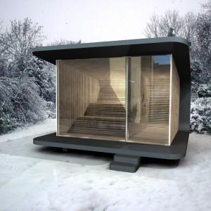 Voor een Duitse producent ontwierp Smeets een sauna.