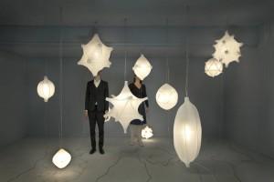 Radiolaria lampen van Bernotat&Co geïnspireerd op Kunstformen der Natur van Ernst Haeckel