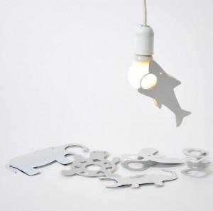 Lampclip in verschillende patronen, in ontwikkeling. Foto: NOtoys