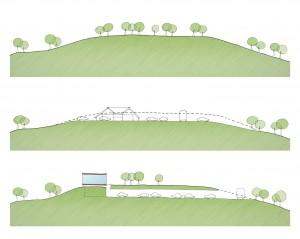 Het bezoekerscentrum is door het Haags-Hongaarse architectenbureau als het ware in de heuvel geschoven.